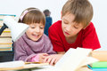 Kids reading Royalty Free Stock Photo
