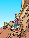 Kids rock climbing Royalty Free Stock Images