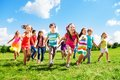 Kids running enjoying summer Royalty Free Stock Photo