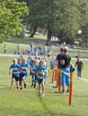 Kids running during the Generation PEP day in Hagaparken, to make kids be more physical active and more healthy