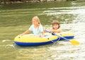 Kids Sailing In Punt