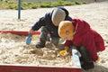 Kids in the sandbox Royalty Free Stock Photo