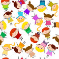 Kids seamless pattern background cartoon Royalty Free Stock Photo