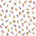 Kids seamless pattern background cartoon Royalty Free Stock Images