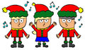 Kids sings Christmas carol Royalty Free Stock Photos