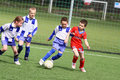Kids soccer match Royalty Free Stock Photo