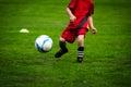 Kids soccer training match depth of field