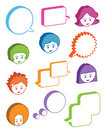 Kids with speech bubbles Stock Image