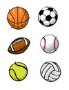 Kids sports balls Royalty Free Stock Images