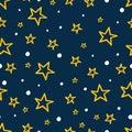 Kids stars seamless background
