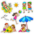 Kids in summer Stock Photo