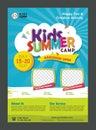 Kids Summer Camp Banner poster design template for Kids