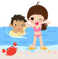 Kids is summer holiday Royalty Free Stock Image