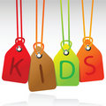 Kids tags Royalty Free Stock Image