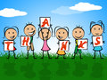 Kids Thanks Indicates Child Gratefulness And Appreciate Royalty Free Stock Photo
