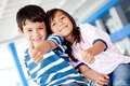 Kids with thumbs up Royalty Free Stock Photo