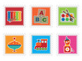 Kids toy stamps Stock Images