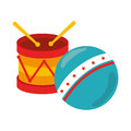 Kids toys isolated icon