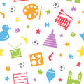 Kids Toys Seamless Pattern [2] Royalty Free Stock Photo