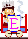Kids & Train Series - E Royalty Free Stock Photo