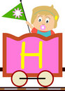 Kids & Train Series - H Royalty Free Stock Photo