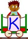 Kids & Train Series - K Royalty Free Stock Photo