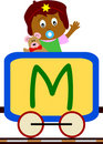 Kids & Train Series - M Royalty Free Stock Photo