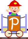 Kids & Train Series - P Royalty Free Stock Photo