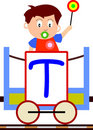 Kids & Train Series - T Royalty Free Stock Photo