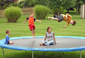 Kids on Trampoline Stock Image