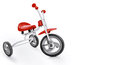Kids tricycle on white background clipping path included Royalty Free Stock Images