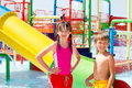 Kids at water park Stock Photography