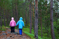 Kids in the woods Royalty Free Stock Photo