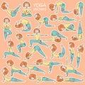 Kids yoga sticker set