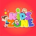 Kids zone banner design. Children playground area