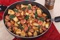 Kielbasa Potato Meal Royalty Free Stock Photo