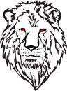 Kierowniczy wizerunku lwa wektor Zdjęcia Royalty Free
