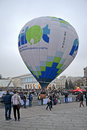 Kiev aeronautic sport Club presents air ballon, Stock Photos