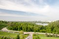Kiev cityscape and dnieper river ukraine Stock Image
