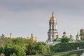 Kiev cityscape and dnieper river ukraine Royalty Free Stock Photo
