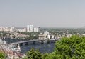 Kiev cityscape and dnieper river ukraine Royalty Free Stock Photography