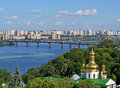 Kiev cityscape lavra and dnieper river ukraine jul with on july in ukraine celebrates th anniversary of kyivan rus Stock Photo