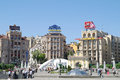 Kiev main square of city ukraine may an area independence is in the center Royalty Free Stock Images