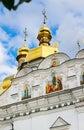 Kiev pechersk lavra orthodox monastery facade s fragment kiev of the assumption church uspenskiy ukraine Royalty Free Stock Photos