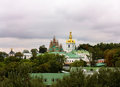 Kiev pechersk lavra view of the church of the nativity of the blessed virgin of the Stock Photos