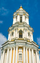 Kiev-Pecherskaya Laura. Bell tower over blue sky Royalty Free Stock Image