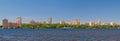 Kiev on river dnieper ukraine panorama of city Stock Photos
