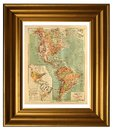 Old map of America Royalty Free Stock Photo