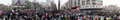 Kiev ukraine december pro europe protest in kiev panorama of on Royalty Free Stock Image