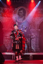 Kiev ukraine march burns night charity event dedicated to scottish poet robert burns kiev ukraine march pipe major roderick deans Royalty Free Stock Photography